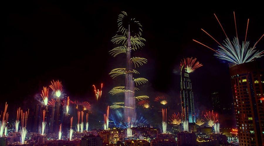 burj khalifa fireworks 2020
