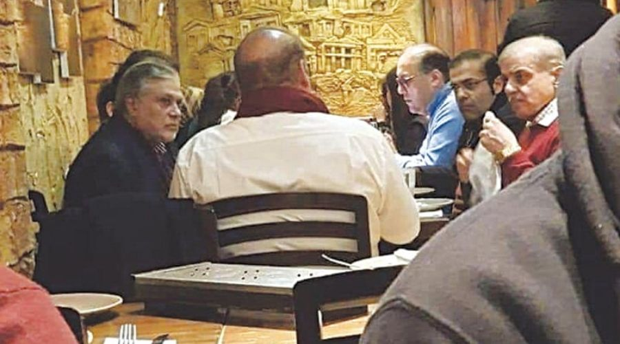 Nawaz Sharif's Picture at London Restaurant gets Viral on Internet
