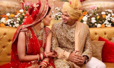 Indian cricketer ‪Suresh Raina‬ ties the knot with his childhood friend Priyanka