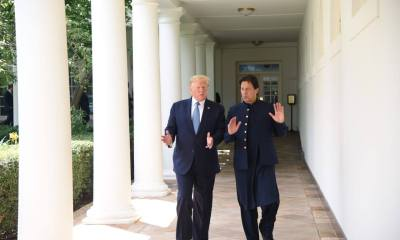 Imran Khan Touring the White House with Donald Trump