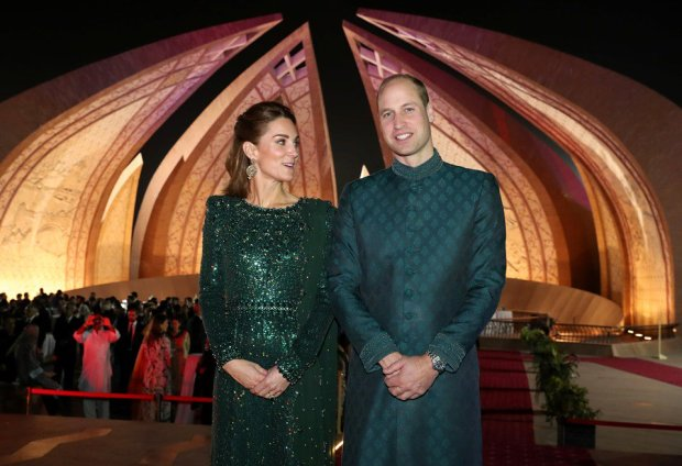 Royal Couple at Pakistan Monument