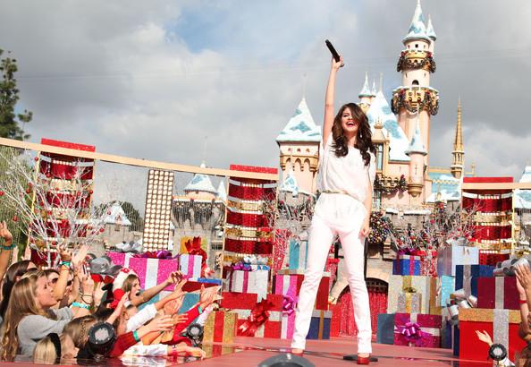 Selena Gomez Celebrating Christmas Eve-7
