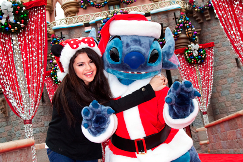 Selena Gomez Celebrating Christmas Eve-9
