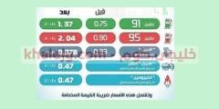 عاجل … تحديث أسعار البنزين الجديدة في السعودية لشهر سبتمبر 2020