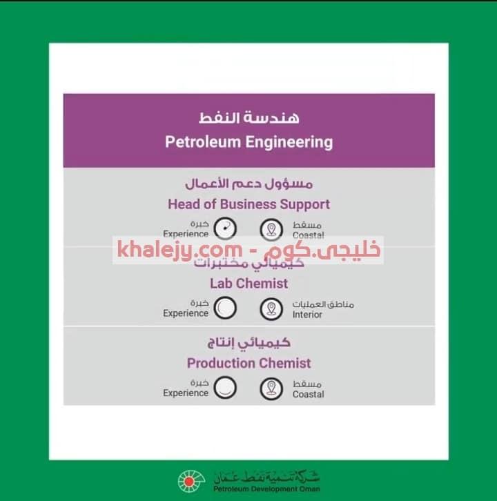 وظائف شركة تنمية نفط عمان 11 فرصة وظيفية للعمانيين