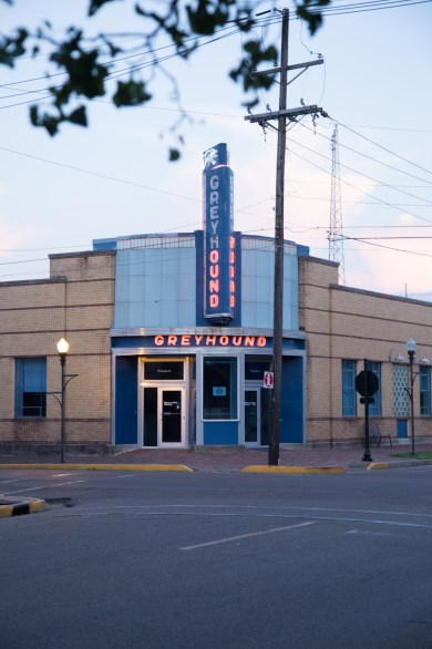 The Greyhound Bus station, Clarksdale MS.