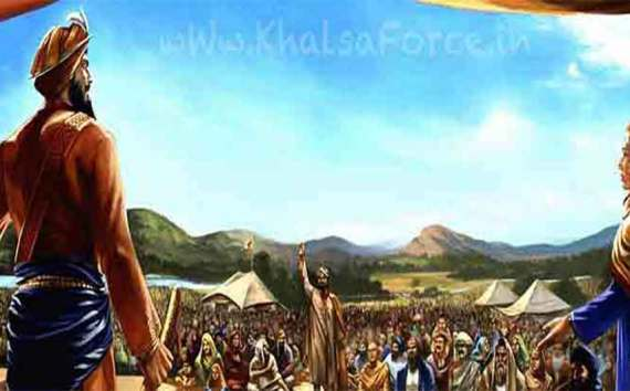 Khalsa Panth di Sajna 15 april 1699