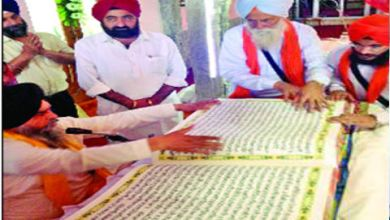SIKHS FROM KANPUR HAND WRITE 6 FOOT LONG SAROOP OF GURU SAHIB