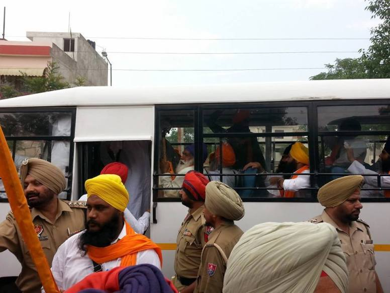 The first batch of arrested Singh from Fatehgarh Sahib.