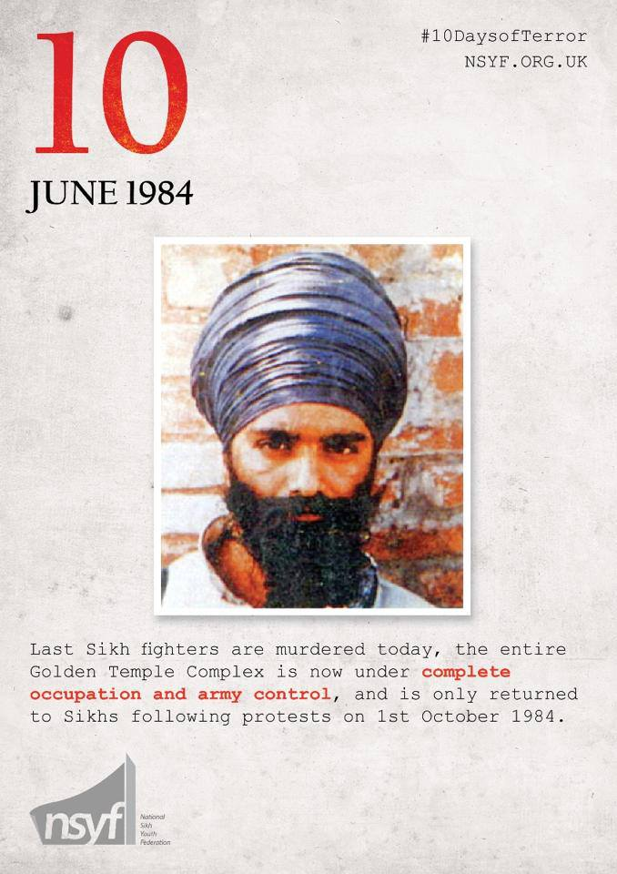 On the 10th June 1984 after 10 days of terror