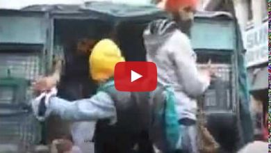 Sikh youth protest in Srinagar against police firing in Jammu 2