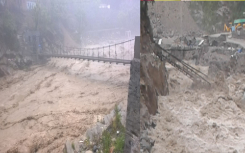 TERRIFYING PICTURES FROM SRI HEMKUND SAHIB YATRA AFTER RAINS CAUSE HAVOC