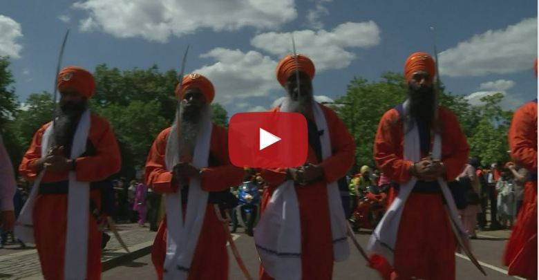 Thousands of Sikh March Through London in Remembrance