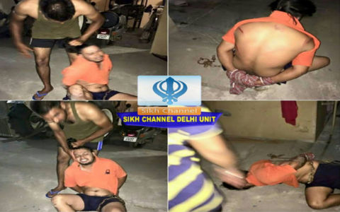 youngster tied with chain and beaten