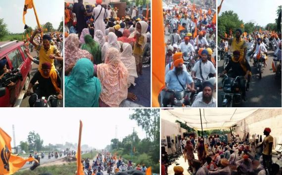 Pictures and Video of Vangaar March Massive Support for Bapu Surat Singh Khalsa in July