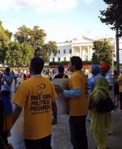 Sikh mass demonstration is taking place right now in front of the WhiteHouse 2