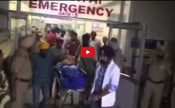 Unconscious but unwavering , being taken to DMC Hospital, Ludhiana after Bapu Ji's condition worsened few hours back.