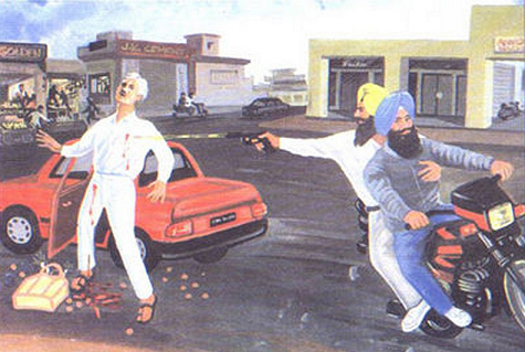 Punishing General Vaidiya the architect of the 1984 attack on Sri Darbar Sahib.