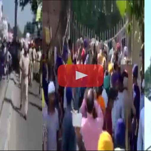 Senior Akali Dal leaders were made to face the full wrath of Sikh protesters at a Gurdwara Sahib in Kapurthala where an Akhand Path has been organised for peace in the state. The Sikh protesters entered the Gurdwara sahib, passing the barricades put up to restrict their entry.