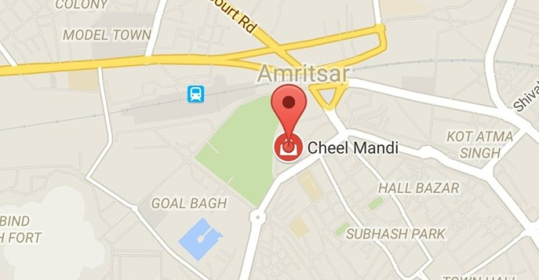 Amritsar located in the Cheel Mandi area
