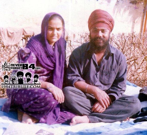 Bhai Raminderjit Singh Tainee and his wife Bibi Manjit Kaur Babbar