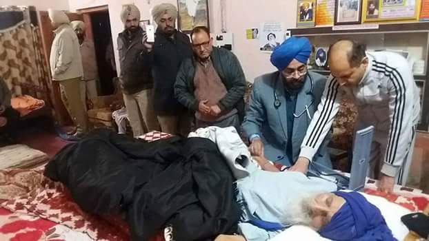 Bapu Surat Singh Khalsa Has Been Taken From Hassanpur By Punjab Police At 4am.