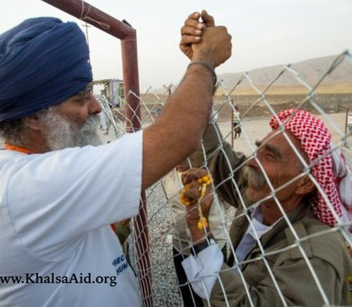 Khalsa Aid Sikhs Helping the Iraq Border