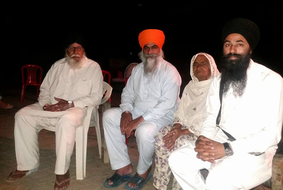 Left to Right - Bapu Bant Singh, Bhai Gurdeep Singh Khera , Mata Jagir Kaur and Papalpreet Singh