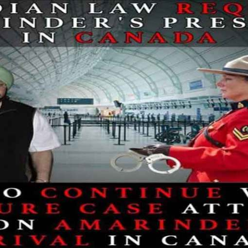 Captain Amarinder Cancels Canada Visit | A Case Related to Torture in a Court in Toronto