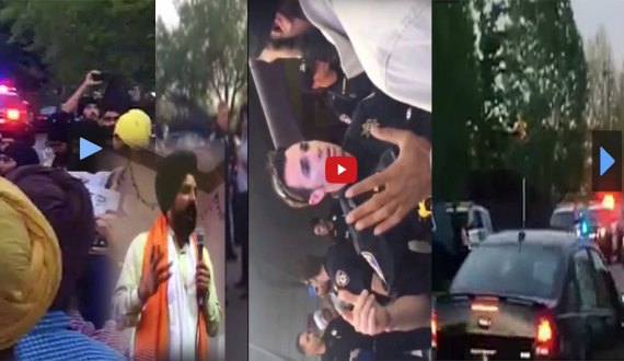 Videos Roseville :-Peaceful Sikh Protesters & Stop Sarbjit Dhunda Perform