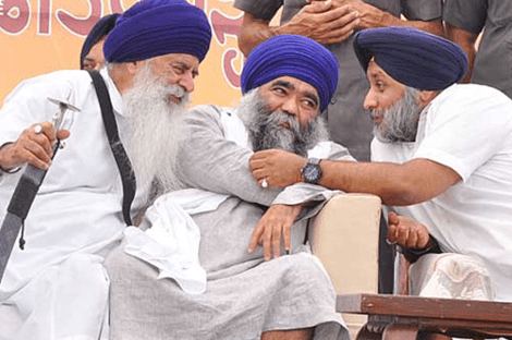 Jasbir Singh Rode and Baba Dhumma with Sukhbir Badal