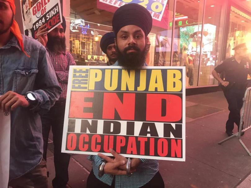 Protest   1984 Anti-Sikh Violence Chases Rahul Gandhi In New York