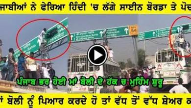 Punjabi's Protest to Put Their Mother-tongue at The First Place