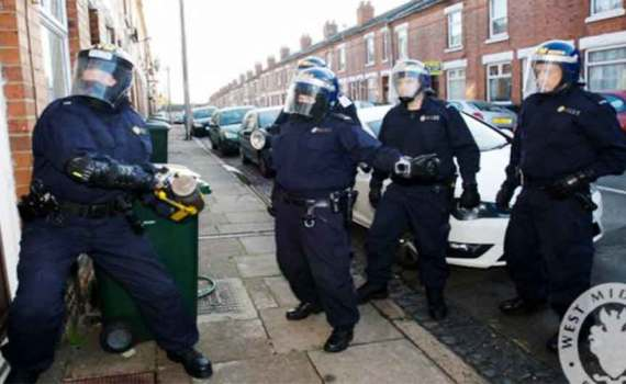 NOTE – This is a stock image and not a picture of the actual raids mentioned in the article West Midlands Police
