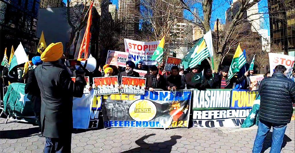 #ANTI-WAR Rally by American Sikhs & Kashmiri's against #IndianAggression | Protest in Front of UN (New York) | Demands #Referendum