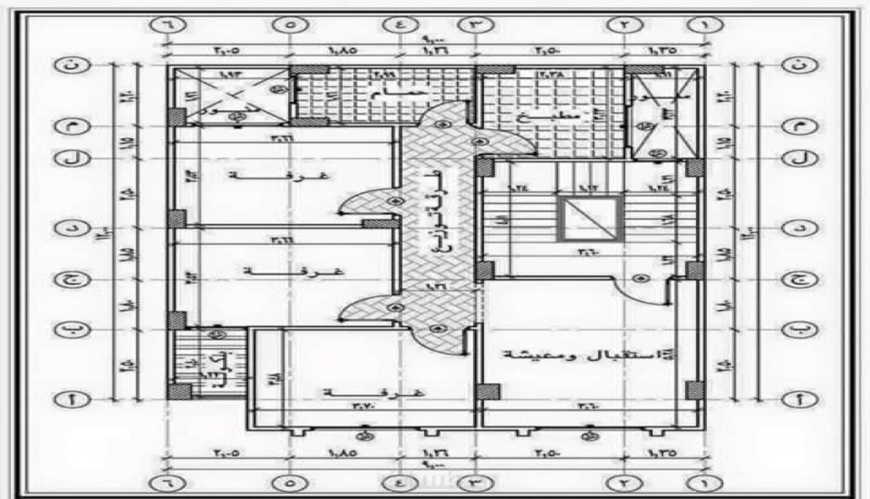 رسم معمارى لاى قطعه ارض 120 متر خمسات