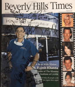 Rajesh Khanna MD on cover of Beverly Hills Times