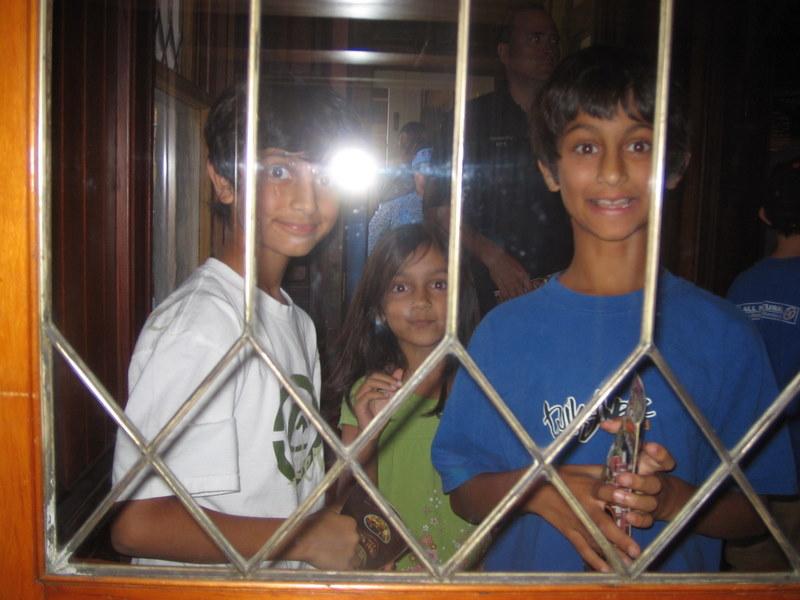 Nikhil, Annika and Vikram Khare at the Winchester House