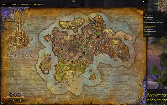 Broken Shore Map