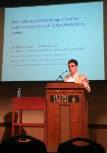 Raffi presenting at ASE 2017