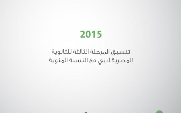 تنسيق المرحلة الثالثة للثانوية المصرية ادبي مع النسبة