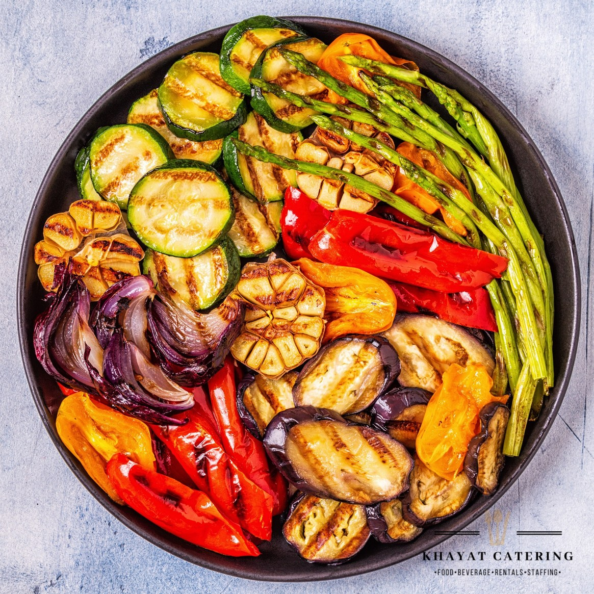 Khayat Catering assorted roasted vegetables