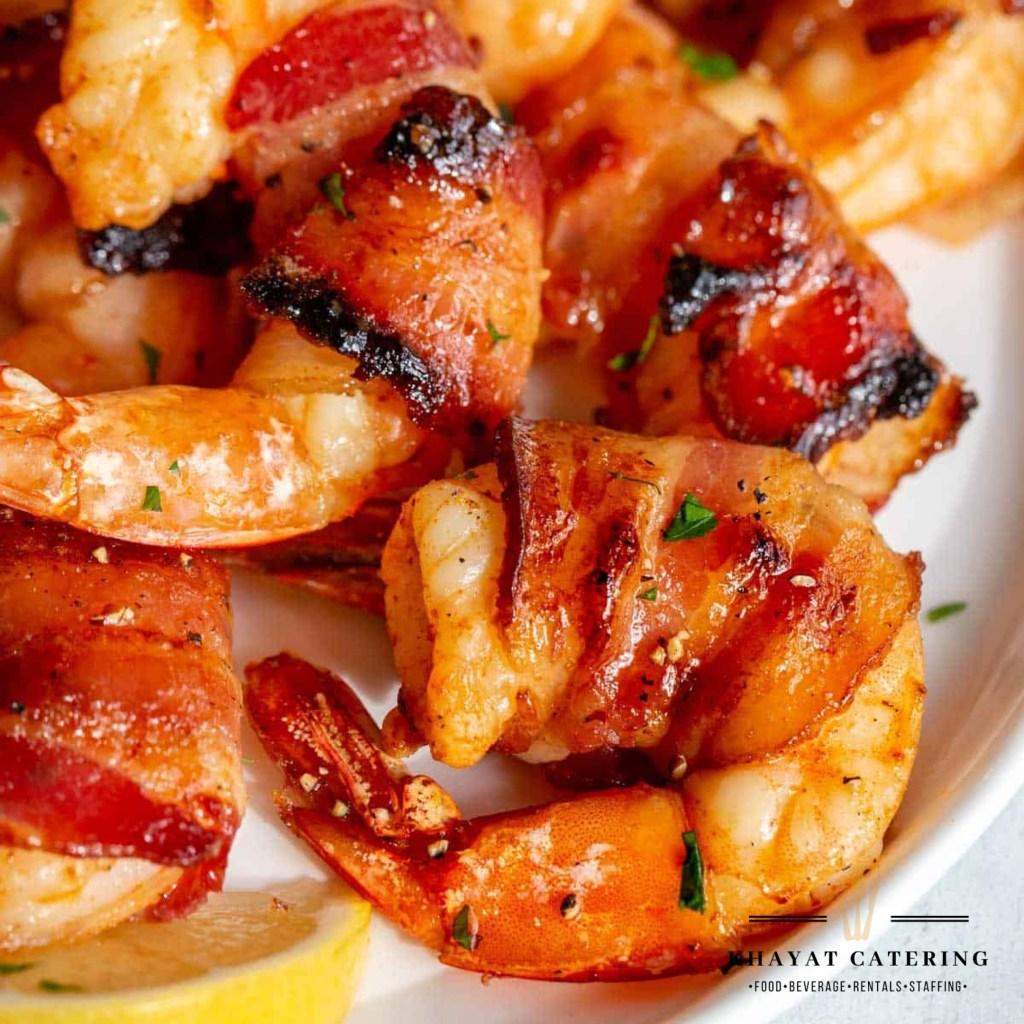 Khayat Catering bacon wrapped shrimp