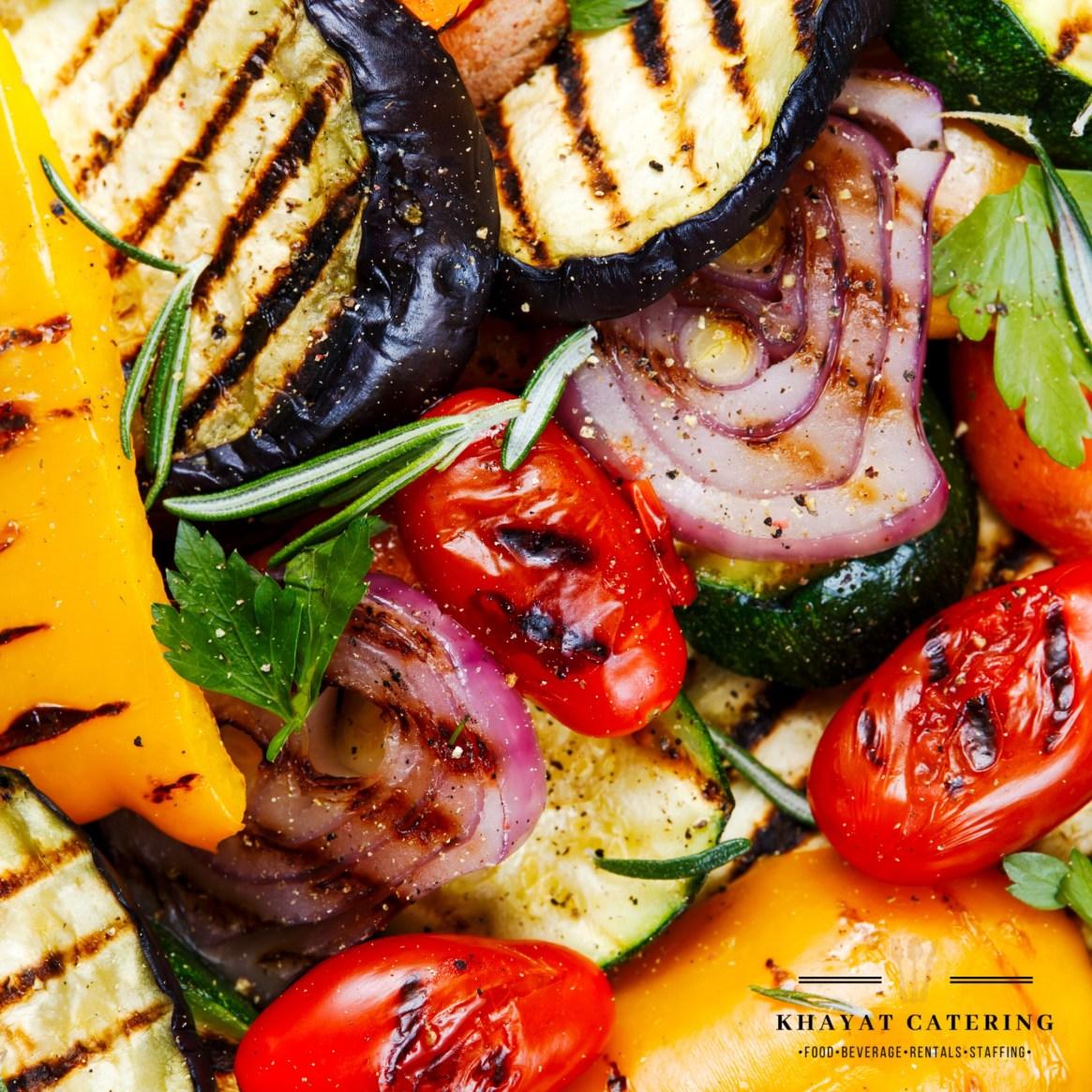 Khayat Catering balsamic grilled vegetables