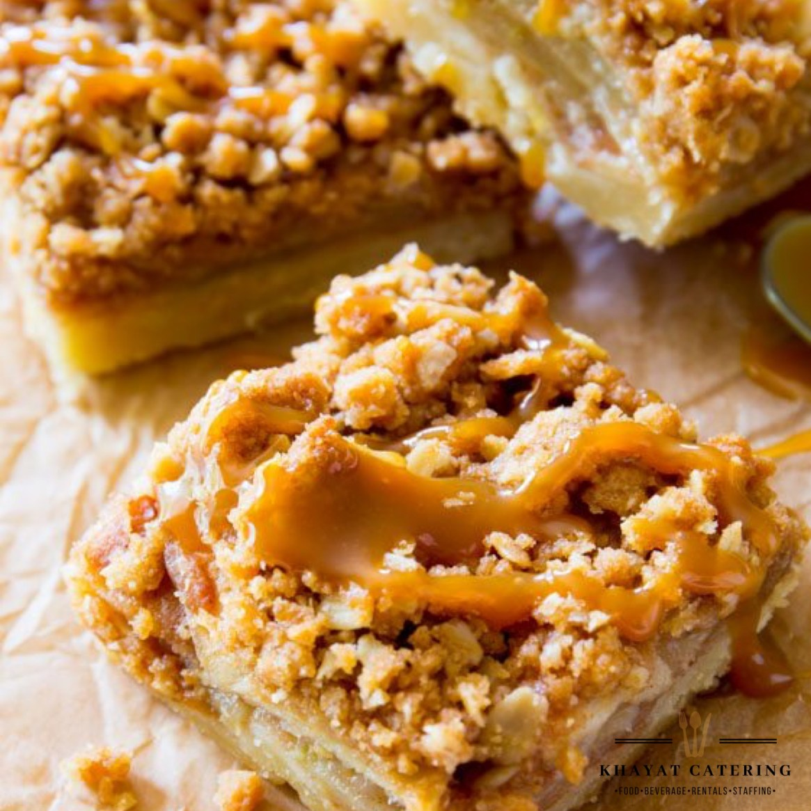 Khayat Catering carmel Apple bars