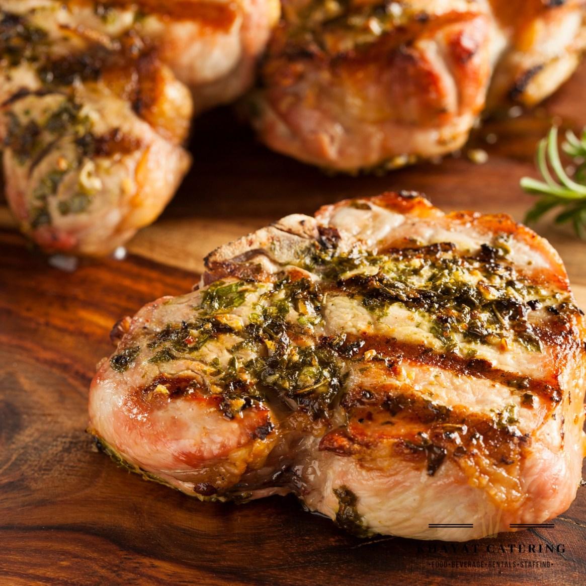Khayat Catering center cut pork chop