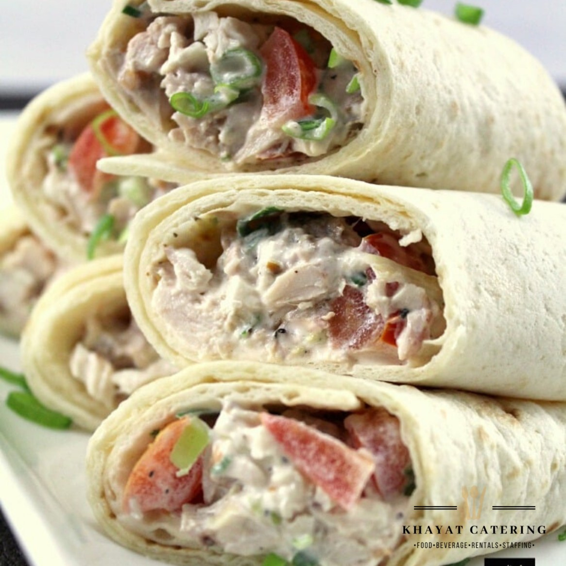 Khayat Catering chicken salad wrap