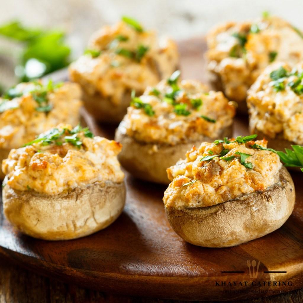 Khayat Catering crab stuffed mushrooms