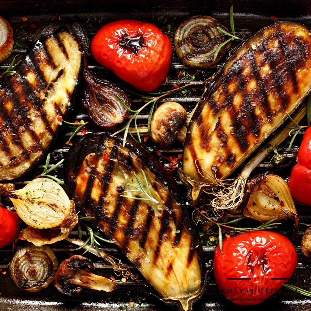 Khayat Catering grilled and chilled vegetable platter