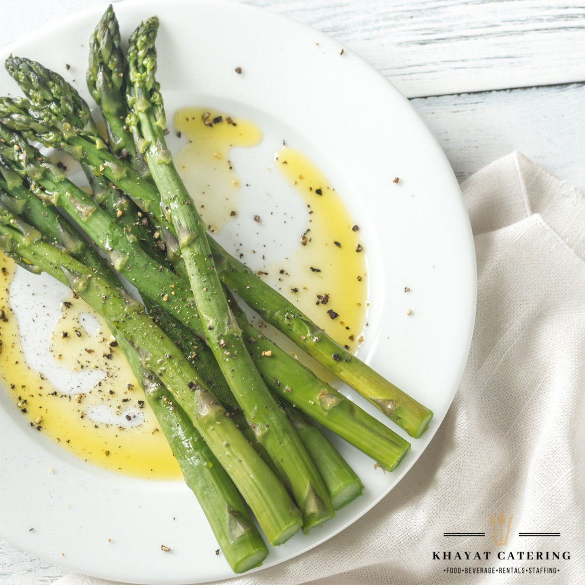 Khayat Catering Grilled Asparagus